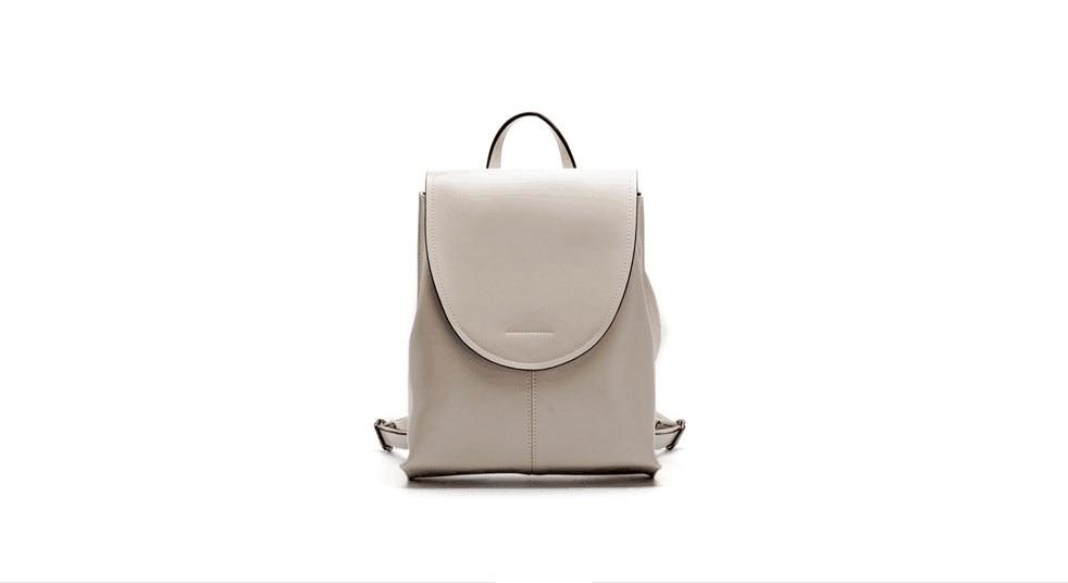 2018 novo estilo de mulheres de couro genuíno cowskin macio mochila ao ar livre saco de lazer