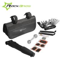 RockBros Portable Cycling Bike Repair Tools Set Multi Function Tire Repair Tool Set With Mini Pump