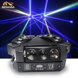 Nuevo 9x12 W RGBW 4in1 haz de araña LED Luz de cabeza móvil colorido haz de luz LED buena para fiesta envío rápido
