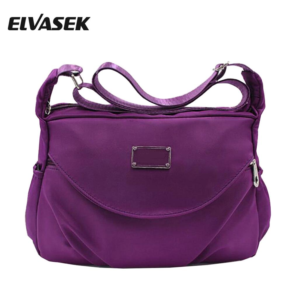 ELVASEK Women Messenger Bags Ladies Handbags Single Shoulder Handbag Leather Canvas Crossbody Bag Girl'S Pouch Bolsas DH0223