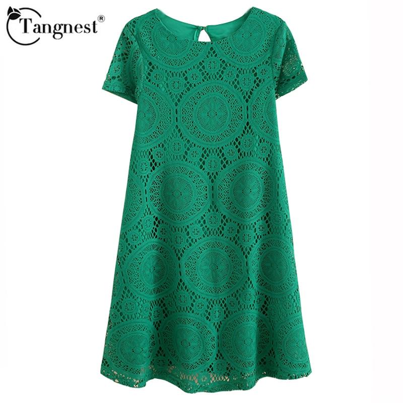 Tangnest vestidos femininos mujer casual dress  verano de manga corta del o-cuel
