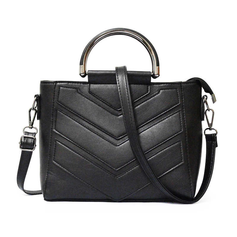 Hot Fashion Luxury Women Bags Messenger Bag Tote Shoulder Hand Bag Leather Unique Handbag Black