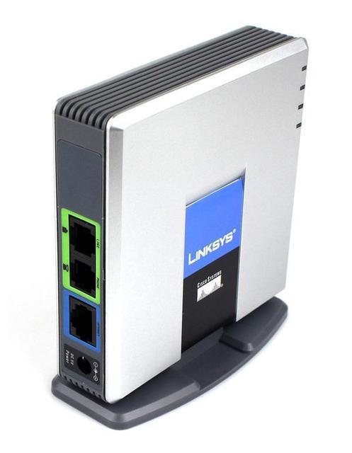 Unlocked Linksys SPA3000 Phone Adapter VoIP Gateway