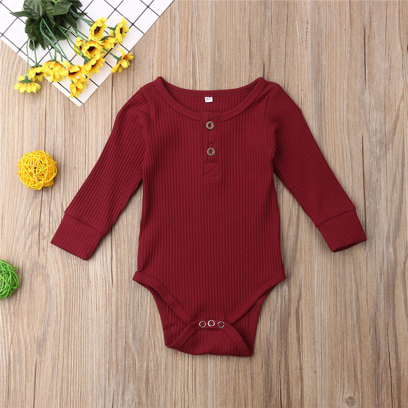 HTB1OXp5LMHqK1RjSZFgq6y7JXXaN 2019 New Spring Autumn Newborn Infant Baby Girl Boy Ribbed Bodysuit Ruffle One-Pieces Solid Jumpsuit Long Sleeve Outfits Sunsuit