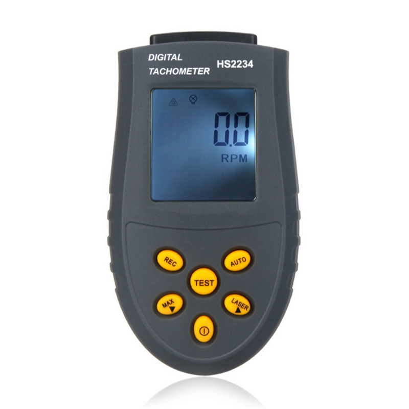 Digital Laser Tachometer Non-contact Speed Gauge LCD Display RPM Test Automatic Speed Measuring Instrument Motor Tacometro digital display motor speed watch strap speeding alarm electronic tachometer sensor measurement speed