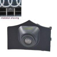 A visão noturna HD CCD car emblema do emblema do logotipo da fonte câmera grande anjo da noite visison para auto audi Q5 2013 dianteira do carro câmera QS5050     -