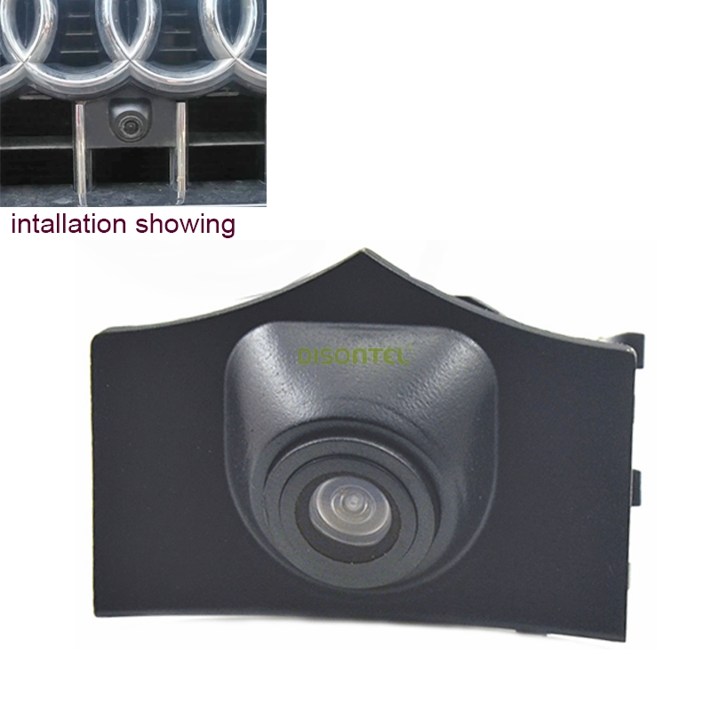 Night Vision HD CCD Car Font Logo Emblem Camera Wide Angel Night Visison For Auto Audi Q5 2013 Car Front Camera