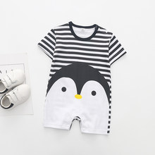 Fashion Sailor Baby Boy Short Rompers Cool Baby Navy Beret Cap Cotton Infant Clothes Costumes Seaman Jumpsuit Overall(China)
