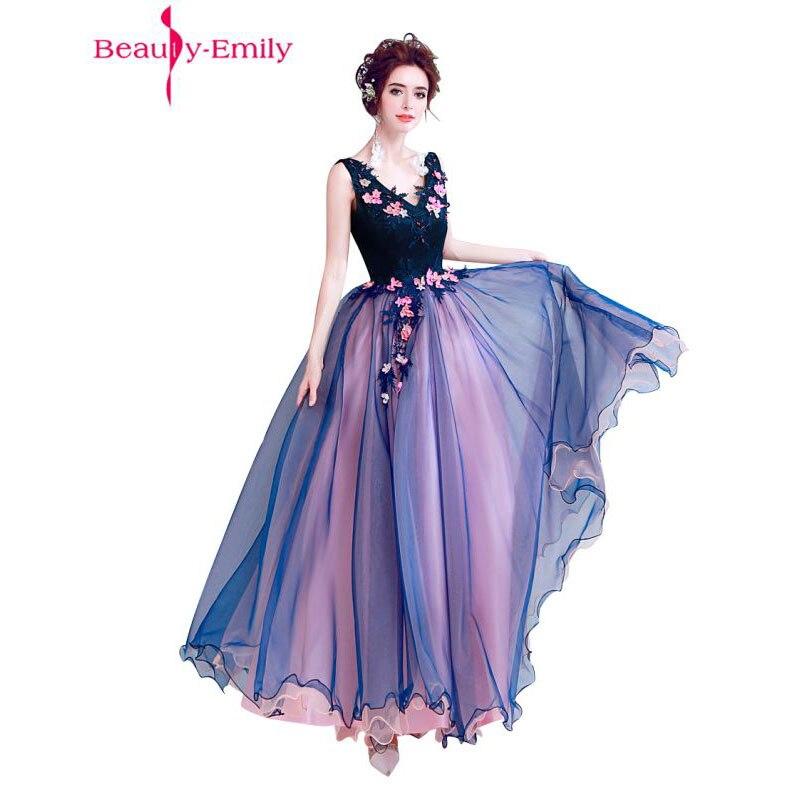 Belleza Emily Nave azul nuevo diseño una línea vestidos de noche ...