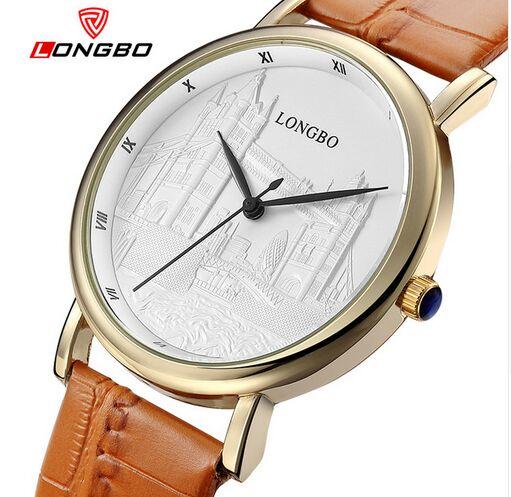 2018 Longbo Brand Luxury Quartz Watches Casual Fashion Leather Watches Men Women Clocks Couple Sports Personality Wristwatches