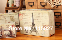 NEW Coming Free Shipping 3pcs Large Size France Style Metal Tin Case Sweety Candy Can Cookie