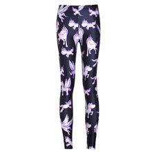 New Arrival 3607 Sexy Girl Women Cute rainbow unicorn Angel Pegasus 3D Prints Elastic Fitness Polyester Walking Leggings Pants