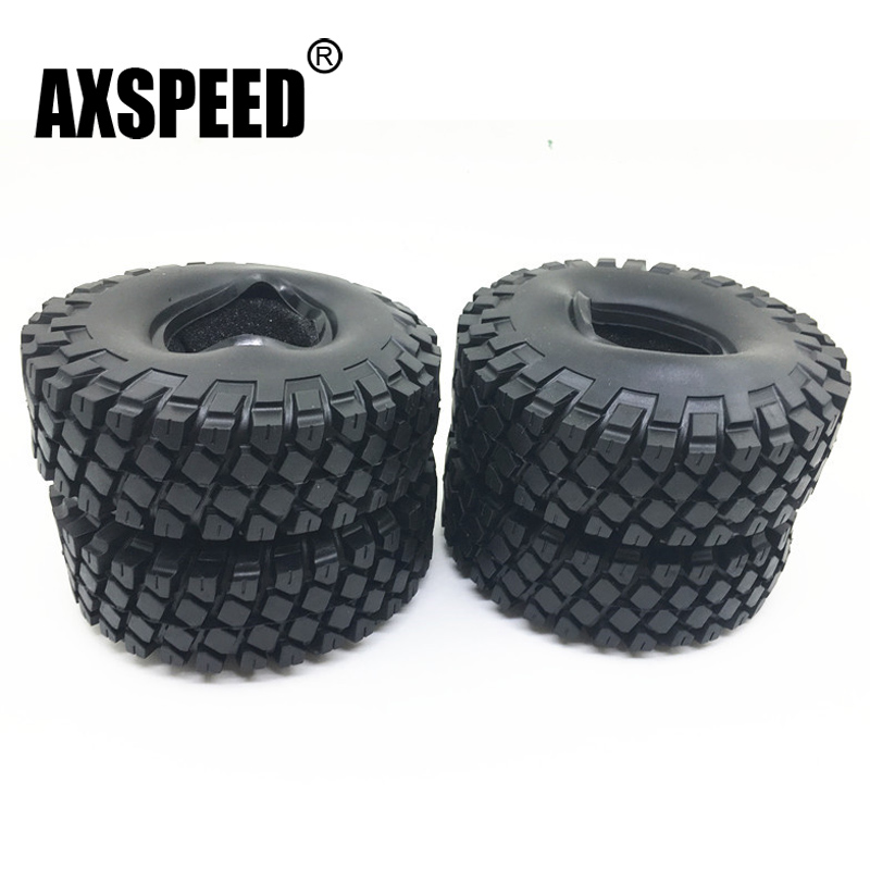 1.9 Inch 114mm Rubber Rocks Tyres / Wheel Tires for 1.9 Inch 1:10 RC Rock Crawler Wheels SCX10 RC4WD D90 Black 1 10 rc crawler 1 9 rubber tires