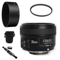 YONGNUO YN35mm F2.0 Wide-angle AF/MF Foco Fixo Lente para Nikon F montar D7100 D3200 D3300 D3100 D5100 D90 Câmeras DSLR 35mm F2N