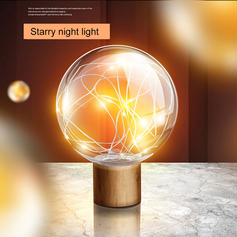 USB Charging LED Night Light 3D Moon Star Night Bedside Lamp for Home Decor Gift LKS99