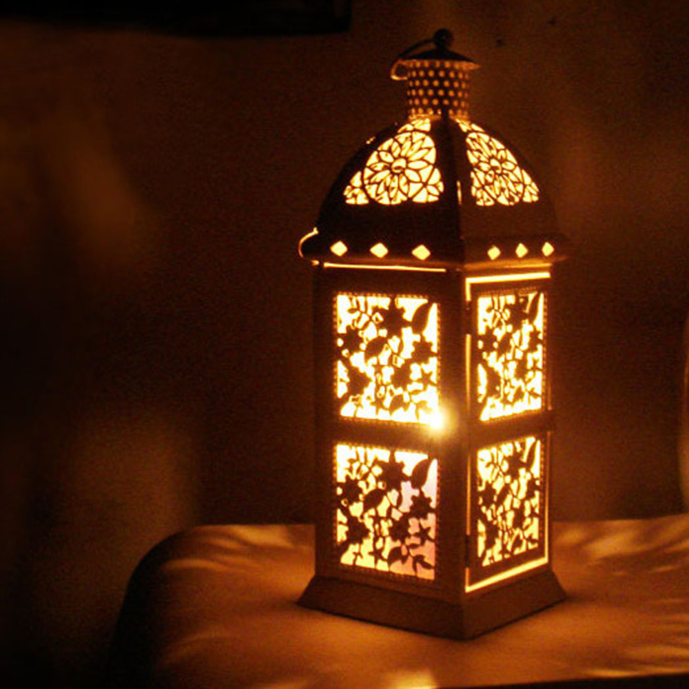 Vintage European Metal Hollow Wall Hanging Moroccan Candle ...