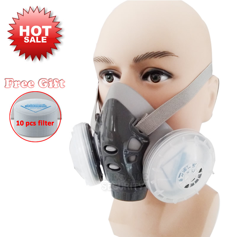 High Quality Dust Mask Respirator With Dual Filter Half Face Mask For Carpenter Builder Miner Polishing Dust-proof