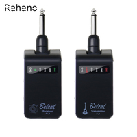 Rahano Rechargeable Wireless System Digital Guitar Bass Audio Transmitter Receiver Set