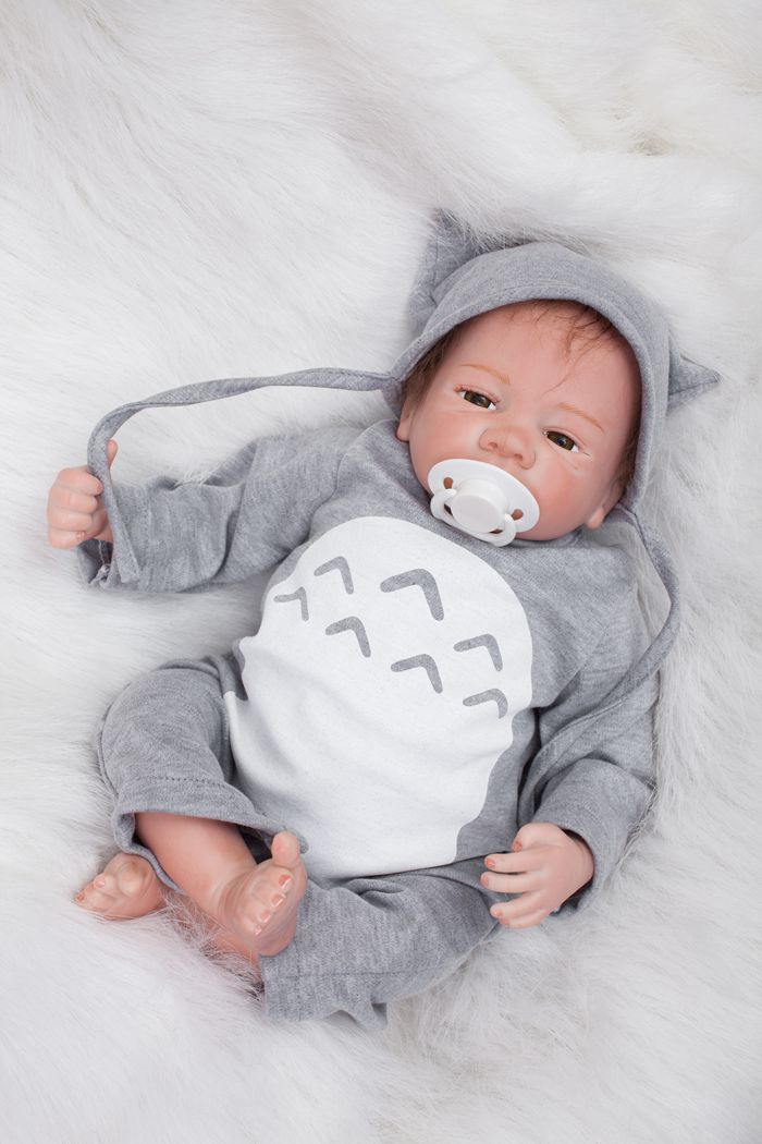Hot Selling 50cm Soft Silicone Reborn Baby Doll Toys Lifelike Vinyl Newborn Boy Baby-Reborn Dolls Birthday Gift Play House Toy 2016 hot selling 22cm the first sofia princess dolls toys sophia clover cartoo toys rabbit plush doll