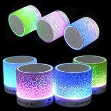 Portátil mini led alto-falantes sem fio bluetooth pequeno áudio música tf usb luz fm stereo som speaker para telefone xiaomi com Mic(China (Mainland))