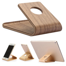 Wooden Cell Phone Stand Universal Holder Cradle for Smartpho