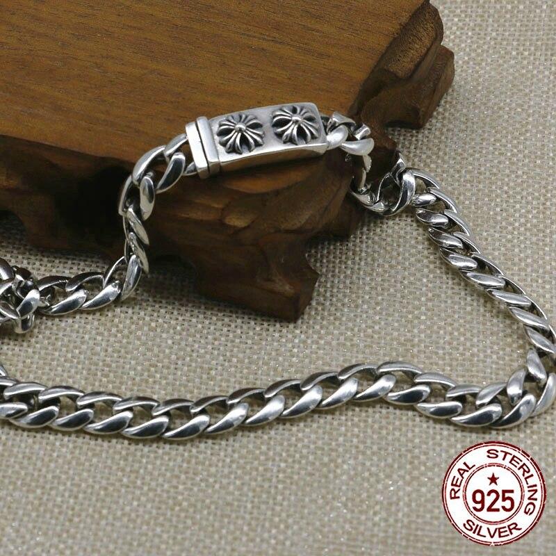 100% S925 collier en argent sterling personnalité mode classique punk bijoux croix lettre style pour envoyer un cadeau d'amour 2018 chaud