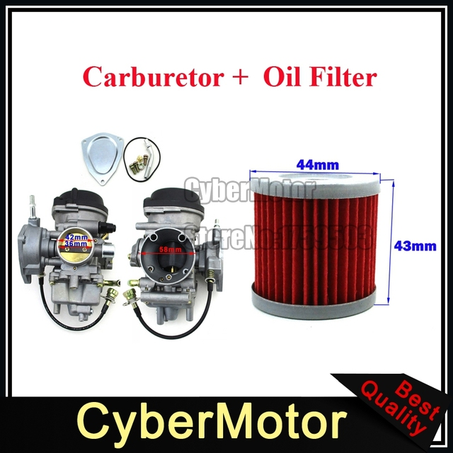 Carburetor + Oil Filter For Suzuki LTZ400 2003 2007 Arctic Cat ...