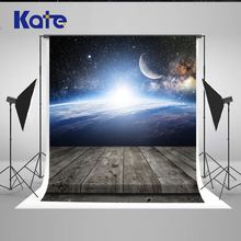 5x7ft Kate Cosmic Sky 3D Photography Background Wooden Floor Photography Backdrops Photo Studio Children Photography Background