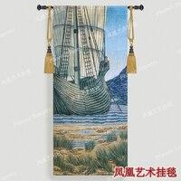William Morris Ship Wall Hanging Tapestry Cotton Home Textile Deco Tapiz Gobelin Tapisserie Arazzo Medievale GT014