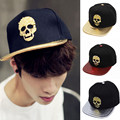With Box Packing Snapback!!! 2016 Newest Metal Skull Style Baseball Cap For Man And Woman Hat Cap Hip Hop Casquette