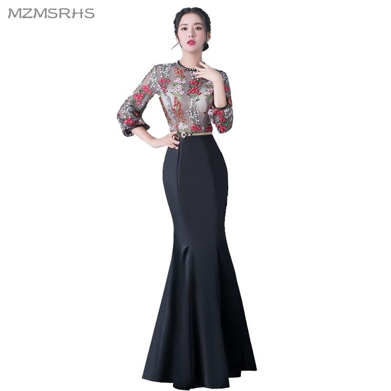 MZMSRHS Elegante 3/4 Ärmel Abendkleid Candy Farbe Spitze Kleider - Kleider für besondere Anlässe - Foto 3