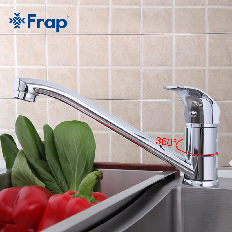 Frap Kitchen Brass Water Faucet Single Handle Mixer Hot And Cold Tap Modern  Design High Quality Chrome F4836 Part 37