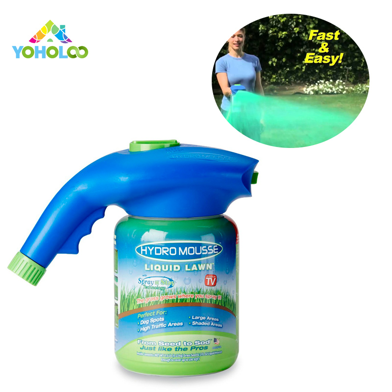 Hydro Mousse Liquid Lawn Sprayer As Seen on Tv Plastic System Liquid Lawn Hydro Mousse Bermuda Grass Seed Sprayer spa массажер as seen on tv sonic