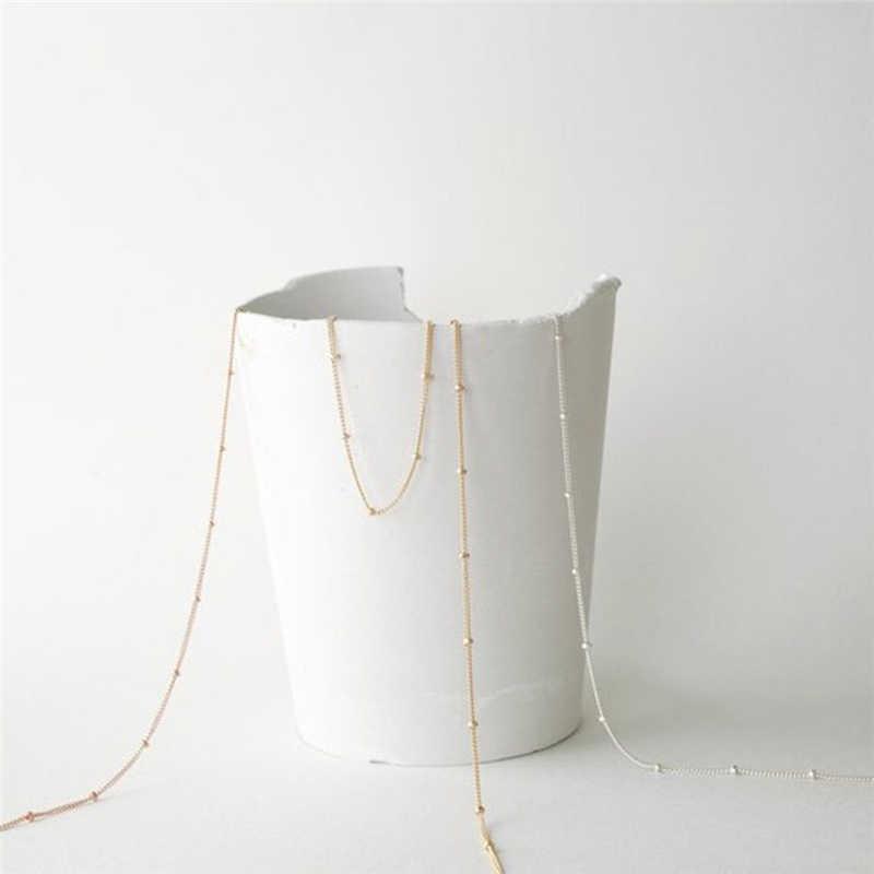 Модные украшения Декоративный металл бисер простой чокер колье классика цепь богемные Кулоны ожерелье s Bijoux женский подарок