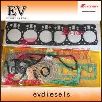 Para Doosan DH380 DE12TI DE12TIA DE12TIS completo do motor junta kit pistão + anel + rolamento|Pistões  anéis  hastes e peças| |  -