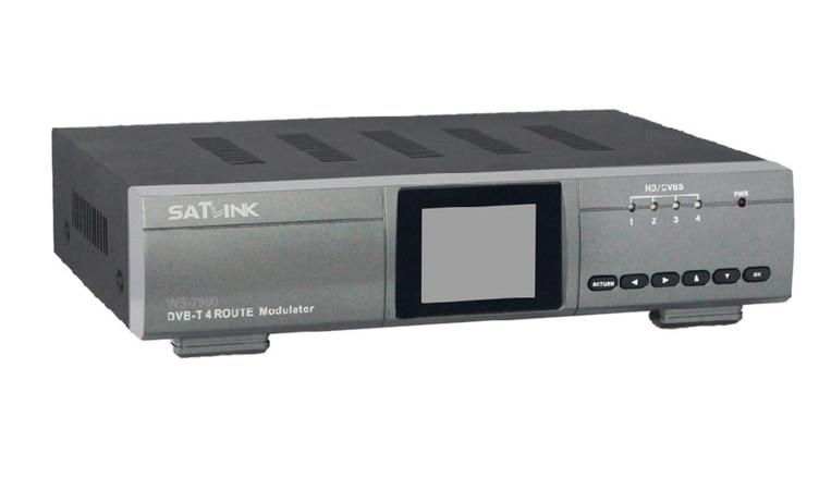 Original SatlinkWS-7990 4 Route DVB-T Modulator AV HDMI Four Router DM Modulator DVB-T AV HD Satlink 7990 Digital RF Modulator satlink ws 6990 hd av input single channel dvb t modulator compact and wall mountable