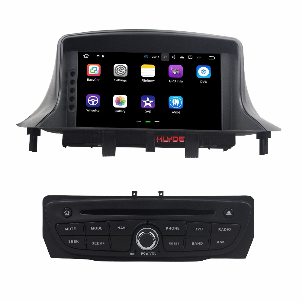 KLYDE 1 Din 7″ Separate Android 7.1 Car Multimedia Player For Renault Megane III Fluence 2009-2016 Car Radio Stereo DVD Audio