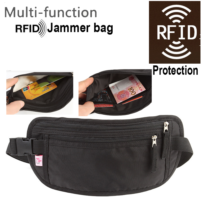 10pcs Anti-Scan Card Bag For Phone With Nfc Jammer Function RFID Blocking Punch Case RFID Jammer Case Rainproof Waist Bag