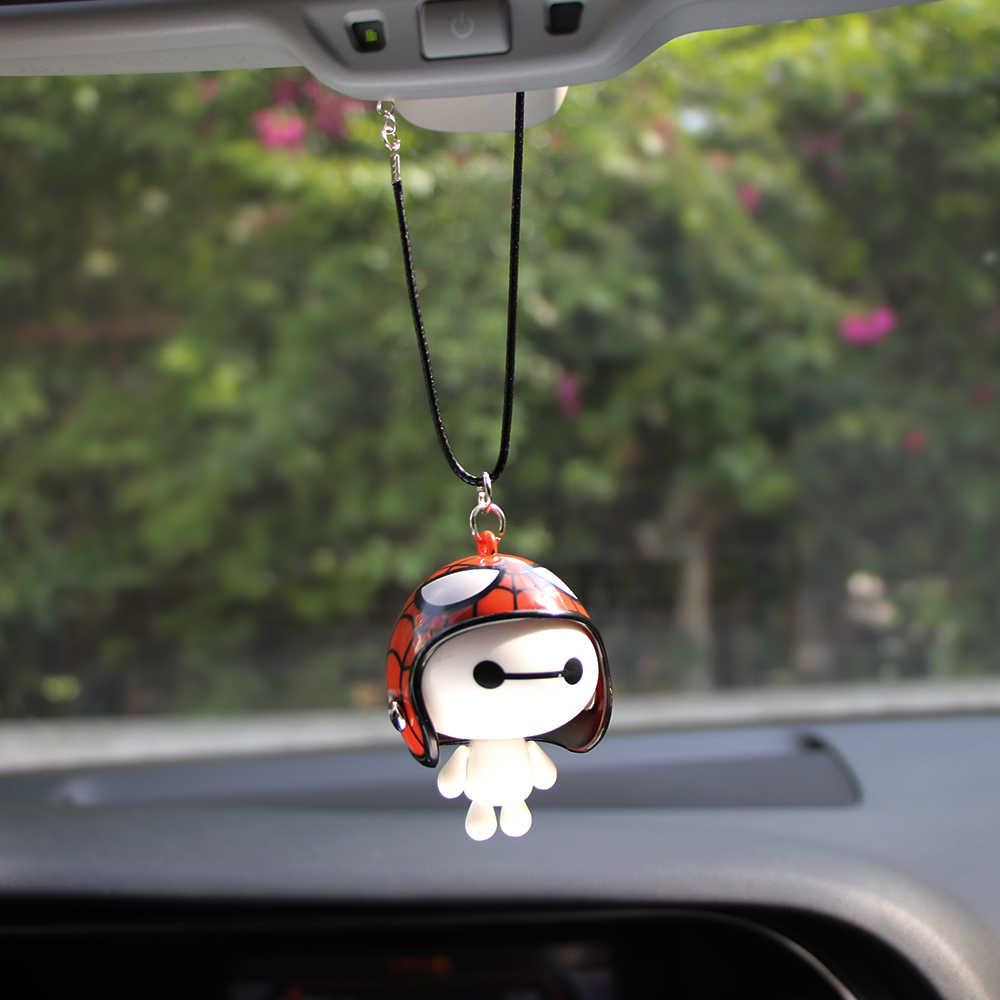 Автомобиль кулон милый шлем робот Baymax кукла висит украшения автомобилей зеркало заднего вида украшения интимные аксессуары Подарки