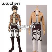 Shingeki no Kyojin Attack on Titan Eren Jager Customized Cosplay Costume