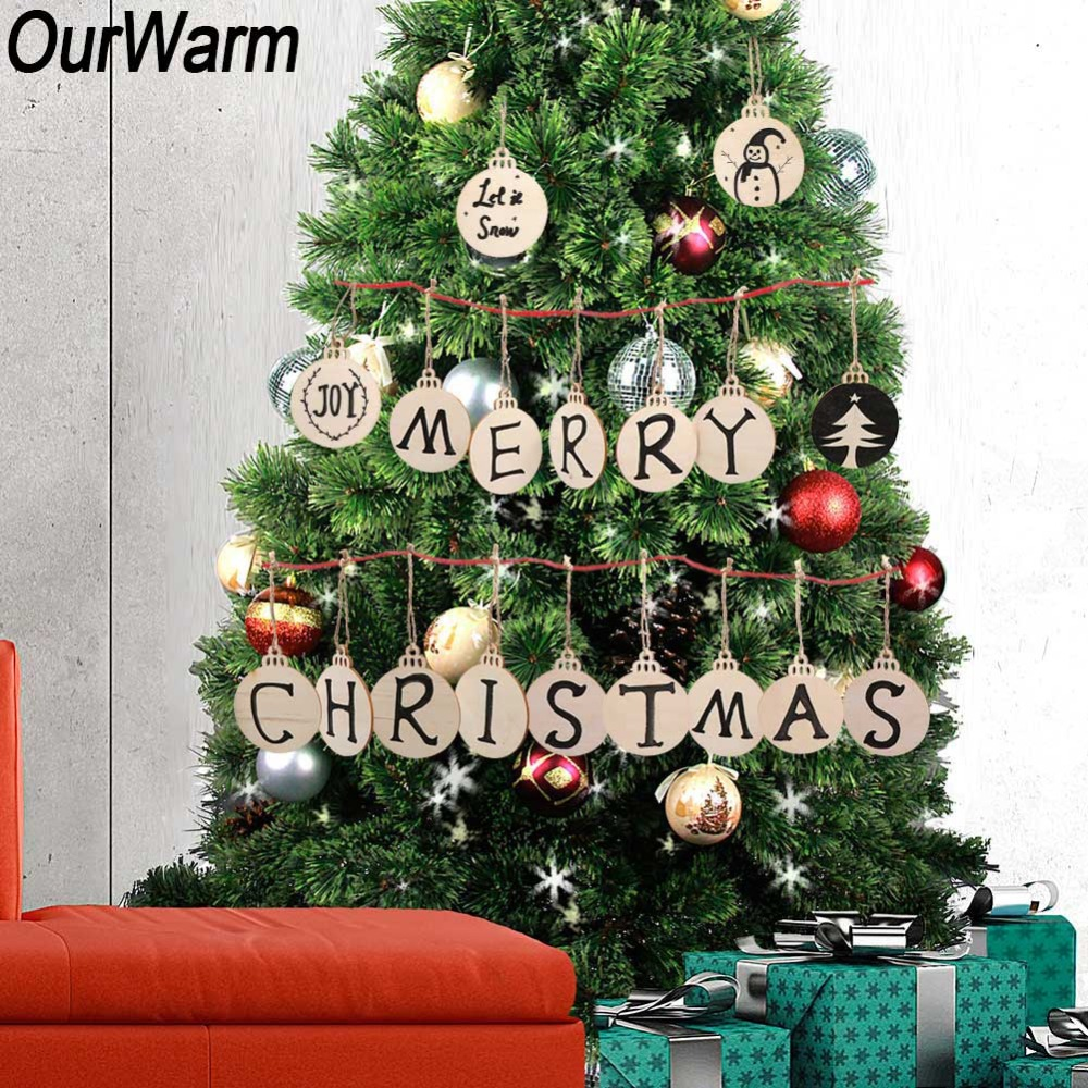 Detail Feedback Questions About Ourwarm 50pcs Diy Wooden Christmas