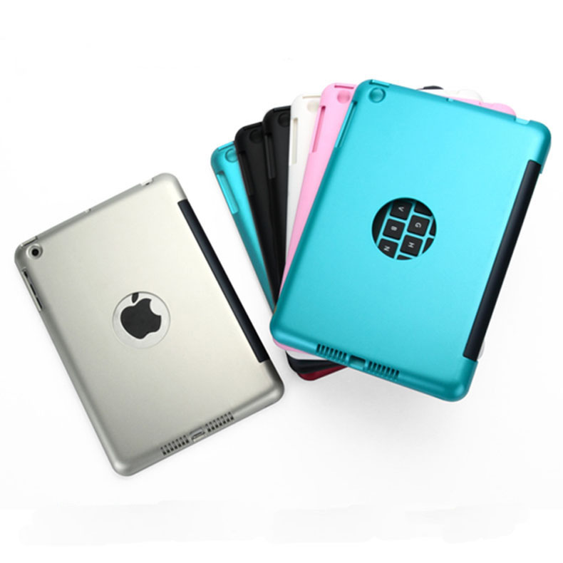 New 2in1 For iPad Mini 1 2 3 4 Bluetooth 3.0 Wireless Keyboard Case Cover Dustproof Foldable Stand Cover Case Holder
