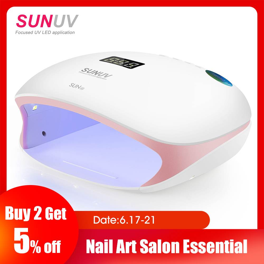 SUNUV SUN4S Nail Lamp 48W UV LED Nail Dryer for Curing Gels Polish With Smart Sensor