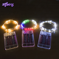 100 200 500 1000pcs Wholesale 4M 40 LED Copper Wire String Light For Glass Craft Bottle