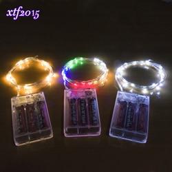 100/200/500/1000 stks Groothandel 4 M 40-LED Koperdraad Snaar Licht voor Glas Ambachtelijke Fles Fairy Valentines Bruiloft Decoratie Lamp