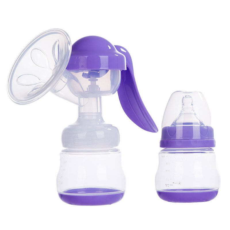 Manual Massage Breast Pump Painless Food Grade Silicone Manual Breast Pump Adjustable Force Breast Feeding Pump Milk Sucker