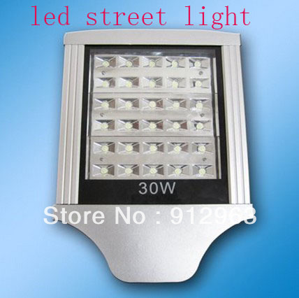 Free Shipping DHL FEDEX CE and RoHS 30W LED outdoor lighting Warm white Cool white led street lights led road lamp