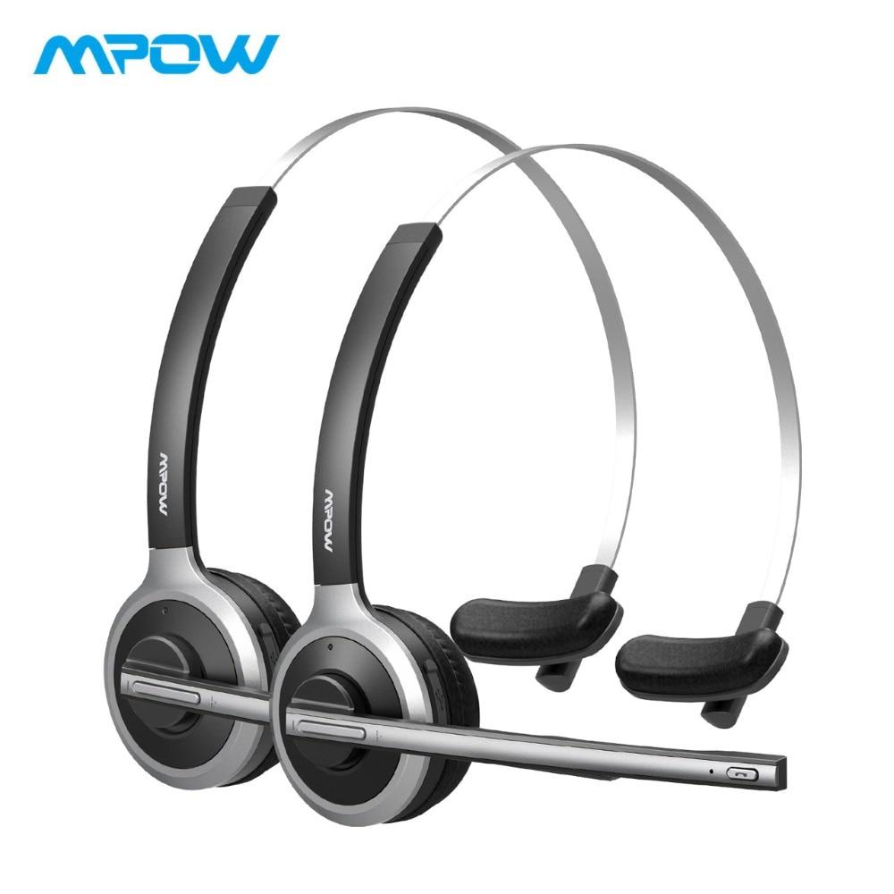 2 Pack Mpow M5 Bluetooth Casques Over Ear Casque Sans Fil Avec Crystal Clear Microphone Pour Les Camionneurs/Pilotes/Appel center