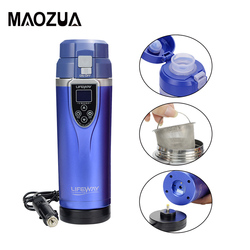 12V 350ml Car Water Heater Kettle Portable Vehicle Electric Travel Heating Cup Coffee Tea Boiling Mug Kettle Travel Heating Cup