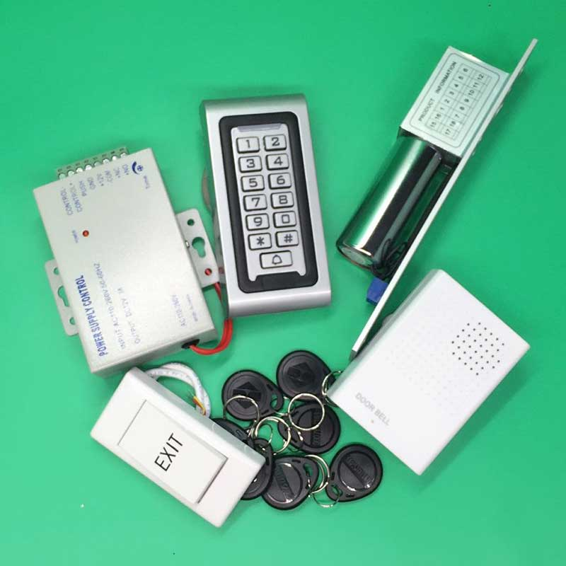 Waterproof Smart Rfid Door Access Control System Keypad +Low Temperature electric bolt Lock with Bolt Bracket